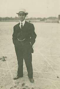 John Moisant American Aviation Pioneer old Photo 1910