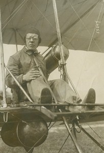 Aviation Pioneer Lindpaintner Sommer old Photo 1910
