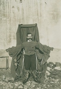 Franz Reichelt Parachute Jump Test old Photo 1910