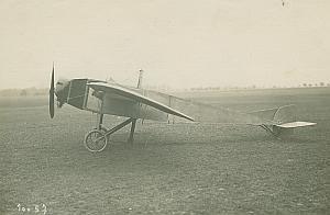 Morane-Saulnier Airplane Aviation old Photo 1912