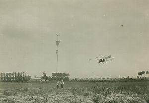 Louis Bleriot XII Airplane in flight French Aviation old Rol Photo 1909