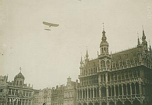 Bleriot Airplane flying Bruxelles Aviation Photo 1911