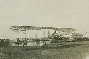 Paulhan Fabre Biplane Aviation old Photo 1911