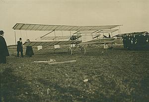 Kapferer Voisin Biplane Aviation old Photo 1907