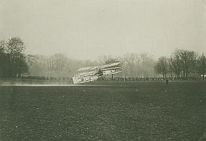 Delagrange Voisin Biplane Trial flight Bagatelle Early Aviation old Photo 1907