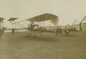Sommer Biplane Lyon Airport Aviation old Photo 1910