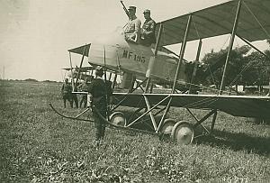 Maurice Farman Pusher Biplane MF193 Aviation Photo 1914
