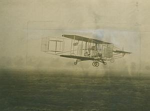Cody Military biplane in flight Aviation old Photo 1910