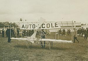 Aviette Auto Ecole Flying Machine Aviation Photo 1910's