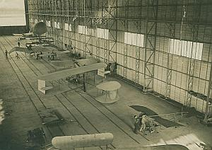 Flying Machines in Clement Bayard Hangar old Photo 1911