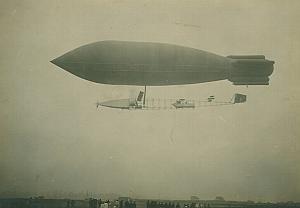 Dirigeable Ville de Paris Aeronautics old Photo 1907