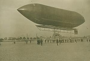 Dirigeable Malecot Dirigible Aeronautics old Photo 1908