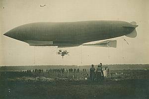 Dirigeable Patrie Lebaudy Aeronautics old Photo 1907