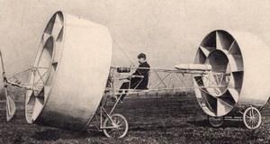 Aviation Pioneers Givaudan Flying Machine old Russian Postcard 1909