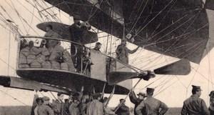 Aviation Pioneers La Republique Dirigible old Russian Postcard 1909