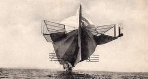 German Aviation Zeppelin LZ 4 Airship old Russian Postcard 1908