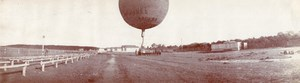 Russia Moscow Aviation Gas Balloon Transport 2 old Panoramic Photos 1912