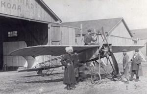 Polish Aviator Michal Scipio del Campo Monoplane Moscow Russia Old Photo 1911