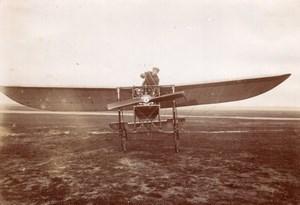 Russian Aviation Pioneer Boris Rossinsky Hanriot Monoplane old Photo 1911