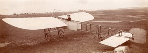 Moscow Russian Aviation Pioneer Boris Rossinsky Hanriot Monoplane old Photo 1911