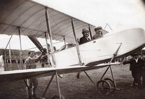 Russia Moscow Aviation Farman Alphonse Poiree Robert Fulda old Photo 1914