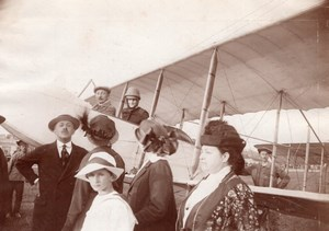 Russie Moscou Aviation Alphone Poiree Prince Princesse Gagarine Ancienne Photo 1914