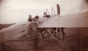 Russia Moscow WWI Aviation Louis Janoir & Woman Passenger old Photo 1915