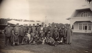 Russia Moscow Airfield Aviation Student Pilots & Henri Pequet old Photo 1914