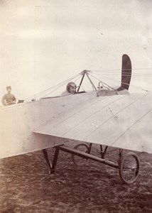 Russie Moscou Aviation Henri Pequet dans un Monoplan Morane Dux Ancienne Photo 1914