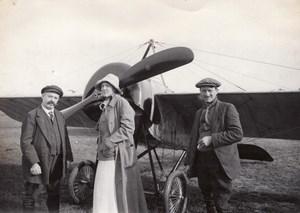 Russie Aviation Henri Pequet Monoplan Morane Dux Ancienne Photo 1914