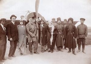 Russie Aviation Henri Pequet Cosaques? Avion Morane Dux Ancienne Photo 1914