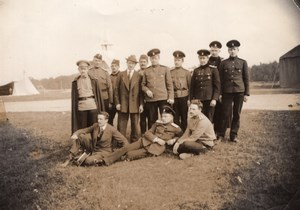 Russie Moscou Ecole d' Aviation Henri Pequet et ses Eleves Ancienne Photo 1914