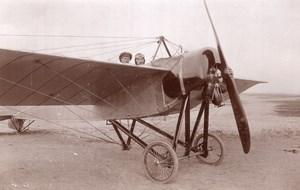 Russie Aviation Henri Pequet Avion Morane Dux Photo Ancienne et Coupure de Journal 1914