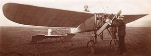 Russie Moscou Aviation Boris Rossinsky dans un Monoplan Hanriot Ancienne Photo 1911