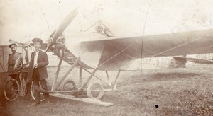 Russie Ecole d' Aviation Boris Rossinsky Avion Nieuport Dux Ancienne Photo 1914
