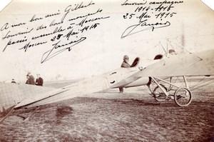 Russie Moscou Aviation WWI Louis Janoir Deperdussin Autographe Ancienne Photo 1915