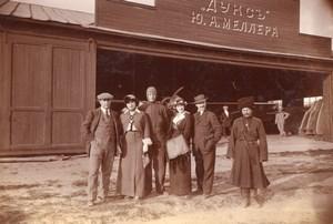 Russie Moscou Aviation Louis Janoir Groupe Hangar Meller Dux Ancienne Photo 1915