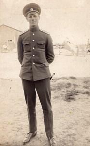 Russie Moscou Aviation WWI Louis Janoir en uniforme Ancienne Carte Photo 1915