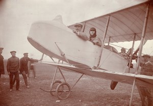 Russie Moscou Aviation Alphonse Poirée Farman Dux Biplan Ancienne Photo 1914