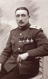 Russie Aviation Militaire WWI Alphonse Poiree en Uniforme Lot Photos Anciennes 1915