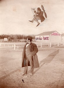 Russie Moscou Aviation Ecole Little Tate Homme non identifie Ancienne Photo 1914