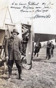 Russie Moscou Aviation Bonnet et Monoplan Autographe Ancienne Photo 1914