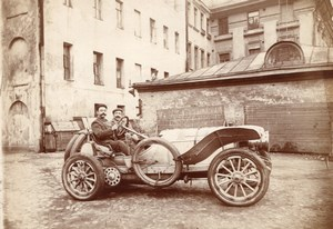 Russie Aeronaute Charles Gilbert Automobile Russe Ancienne Photo 1910