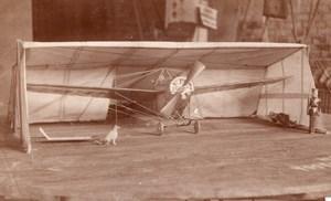 Russie Aviation Photos de Maquettes d'avions et abris pour avions Lot de 8 Photos 1914