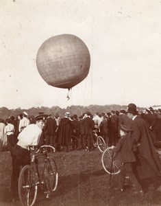 Russia Moscow French Aeronaut Tethered Balloon old Photo Lot 1900's