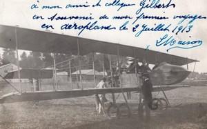 Aviation Aeronautisme Aeronaute L Maison 3 Florentin Champel CPA ecrites vers 1914
