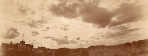Russia Moscow Aerial View Panorama from Balloon Aviation old Photo 1900's