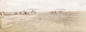 Russie Aerodrome de Moscou Aviation Avions vers 1910-1915 Lot de Photos Anciennes