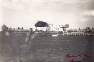 Italie Meeting de Brescia Bleriot en vol sur Monoplan Aviation Ancienne Photo 1909