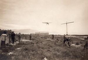 Aviation Course Paris Rome Beaumont sur Bleriot a Nice Ancienne Photo Rol 1911